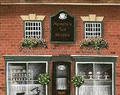 Folk Art Print Personalized Tea Shoppe
