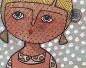 SALE SALE Original 45dlls Comic book girl. Original Acrylic painting by Lillian