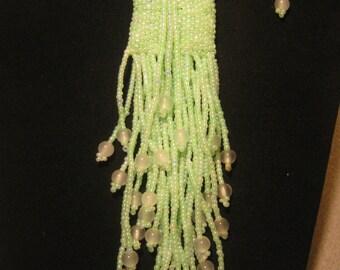 Handbeaded Mini Amulet Wish Bag in Light Green