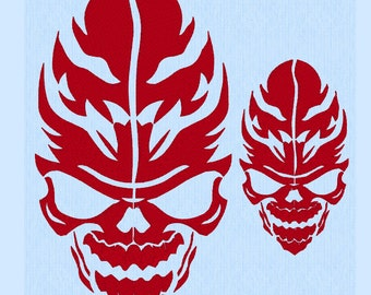 Tribal Skull Machine Embroidery Design File in two sizes