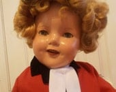 ShiRleY TemPle DoLL     reseved...  please..... no other buyers... 1930's ComPosition in Riding Outfit Vintage Etsy