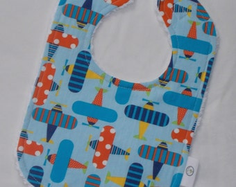 Ready, Set, Go Airplanes and Chenille Bib