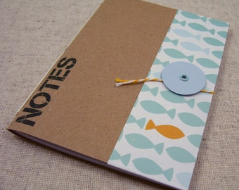 Pocket Mini Notebook // Blue Fish
