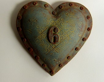 ON SALE Industrial Chic Wall Heart number 6
