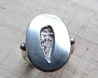Wing Signet Ring- Sterling