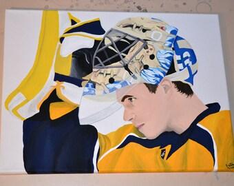 Pekka Rinne Nashville Predators 12x16 Canvas Painting