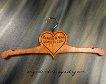 Handmade Hanger With Heart - Heart Hanger - Heart Shaped - Valentines Day Gift - Handmade Hangers - Wood Heart - Bridal Shower Gift