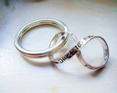 Custom Infinity Keychain, Sterling Silver Personalized Infinity Charm with  Sterling Silver Key Ring, Hand Stamped Message