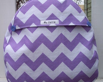 My Carrie Baby/Toddler Backpack Purple Chevron