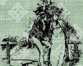 Digital Download Regency Couple, Romantic Couple, Jane Austen style, Toile digi stamp, digis, Antique Illustration, Vintage drawing
