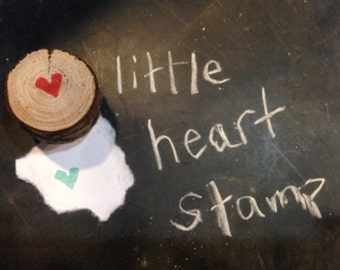 Tiny heart stamp FREE SHIPPING- made to order