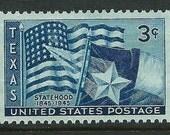 Vintage Unused US Postage Stamp 3c Texas Statehood stamp of 1945.. Pack of 10