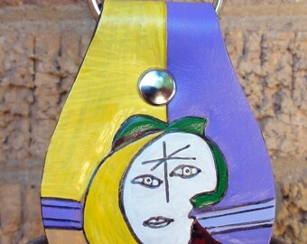 Key Fob with Picasso Woman