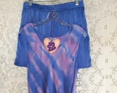 Hand Dyed Lavender Silk Tank Top