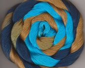Size 10 Hand Dyed Cotton Crochet Thread 150 yards blue bronze turquoise Silas