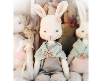 Pipi Lapin PDF cloth softie bunny rabbit sewing pattern by Verity Hope