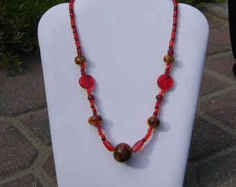 Candy Apple Necklace