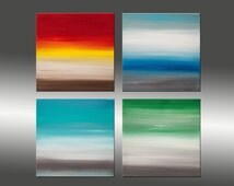 Sunrise Series Collection 2 - Art Painting Original Abstract Paintings Original Painting Canvas Art Modern Art Contemporary