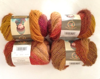 Amazing Mesa Yarn Lion Brand Fall Colors 4 skeins