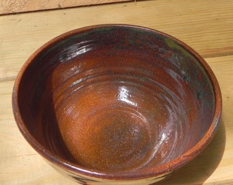 One Ceramic Hazel Brown and Green Bowl Stoneware/ matching Dinner Sets Available