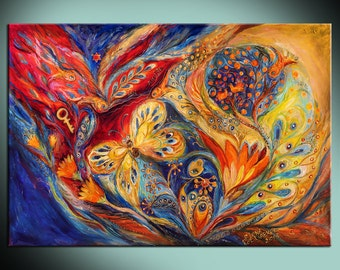 Signed Art Print The Chagall Dreams Wall Art Canvas Giclee Wall Decor Art Home Decor Home & Living interior design angels art wall hangings