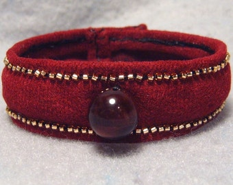 "Martian Sunrise, ""soft bangle"" bracelet"