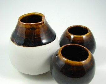 Sake Set - Porcelain Sake Set - Ceramic Flask and Two Cups  - Japanese Sake Server - Handmade  Pottery Pitcher - Ready to Ship