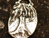 Rustic Artisan Be Strong Tree Charm in Sterling Silver