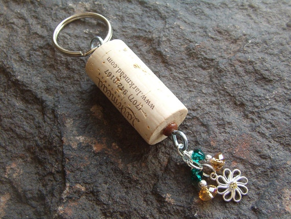 wine cork key holder with dangle charm 8 by veronicagoodman