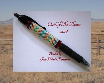 Bead PATTERN Laramie G2 Pen Wrap Peyote or Brick stitch
