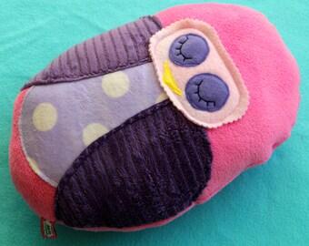 Giant Pink and Purple Polka Dot Owl Friend