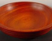 Exotic African Padauk Salad Bowl Turned Wood Bowl No.5225