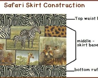 PRIVATE LISTING Custom SAFARI Twirl Skirt