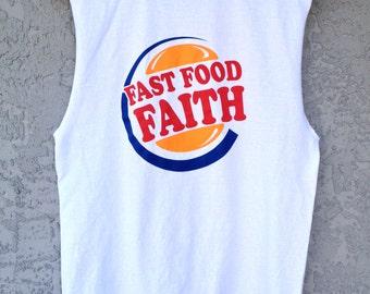 Muscle Tee Tank Fast Food Faith