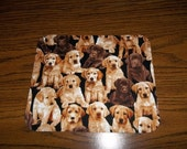 Lab Puppy, Mouse Pad, Yellow Chocolate, Handmade, Gift, Office Decor, Desk Accessory, Rectangle, Mouse Pads, MousePad, Computer Mouse Pad