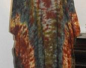 Poncho in Forest Mix Tie Dye