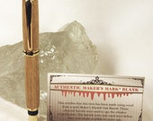 Handmade Authentic Maker's Mark Gold Rollerball with Pen Box - RESERVED for Luckyjayb Only