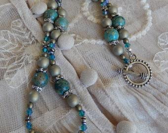 Lasting Impression necklace with Teal Impression jasper