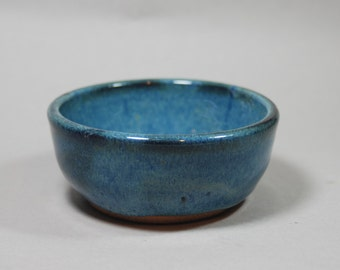 BLUE ceramic serving dish or bowl., handmade pottery, ready to ship, everyday bowl  B30