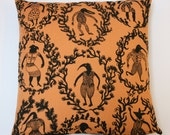 Trumps cushion cover ochre with black backing