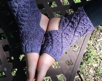 yoga sock knitting pattern spiraling leaves downloadable pdf