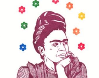 Frida Kahlo Limited Edition Gocco Screenprint