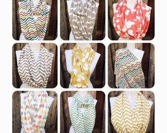 Fall Organic Scarves, Organic Infinty Scarves, Chevron Infinity Scarf, organic jersey Knit baby Swaddle Blankets