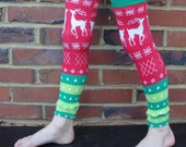 Holiday Leg and Arm Warmers for Boys, Girls - Infant, Baby, Toddler, Kid Leggings - Accessory for Christmas Photos - Shower Gift