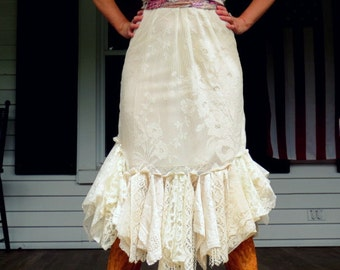 Bohemian Lace Ruffle Dress Made in the USA Sale