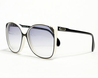 Vintage Sunglasses, SILHOUETTE, oversized sunglasses, womens sunglasses im black and white in unworn deadstock condition