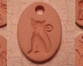 Custom Small Bisque Pottery Pendant or Necklace - Aromatherapy Essential Oil Diffuser - Choose Shape and Design - SITTING CATS Series