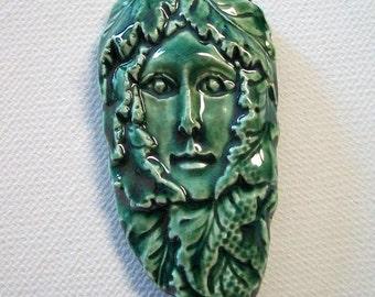 Ceramic Tree Goddess Pendant