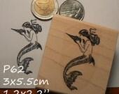 Mermaid rubber stamp P60