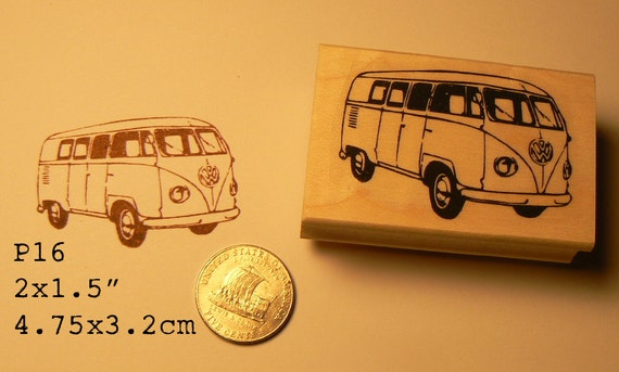 VW bus rubber stamp  P16